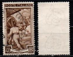 Italia Al Lavoro 40 Lire Filigrana Ruota 3 Sinistra Alta - 1946-60: Usati