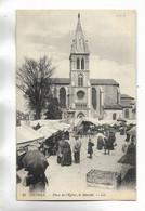 64 - ORTHEZ - Place De L' Eglise, Le Marché.  Carte Animée - Orthez