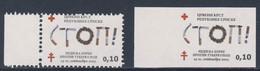 "Bosnia And Herzegovina Serbische Rep. 2003 Mi 13 A + B ** Woche Tuberkulosebekämpfung - Zigaretten, Tabak > Wort ""STOP!"" - Malattie"