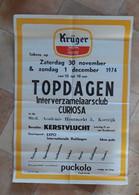 BROUWERIJ KRÜGER, EEKLO, 1974, TOPDAGEN INTERVERZAMELAARSCLUB CURIOSA, KORTRIJK - Manifesti