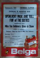 SIGARETTEN BELGA, 1979, EKE, OPENLUCHT ROCK & ROLL FUIF OF THE SIXTIES, MIKE VAN GELDEREN - Manifesti