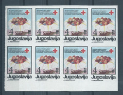 Yugoslavia.Macedonia - 1987 Red Cross - Children's Welfare.Project Stamps ( No Gum ) ERROR,Erreur - Croce Rossa