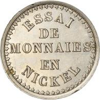 Monnaie, France, Napoleon III, 10 Centimes, 1860, Paris, ESSAI, SPL, Maillechort - D. 10 Centimes