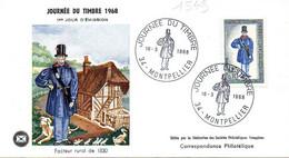 France 1549 Fdc Facteur Rural 1830, Costume, Facteur De Ville, Chien - Posta