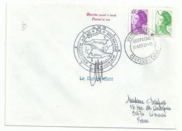 YT 2423 Liberté - Posté à Bord Du MD - Punto Arenas  - Chili - 07/04/1987 - 1982-90 Libertà Di Gandon