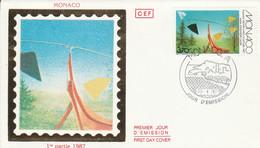 MONACO FDC 1987 SCULPTURE DE CALDER - FDC