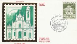 MONACO FDC 1987 PAROISSE DE SAINTE DEVOTE - FDC