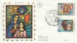 MONACO FDC 1987 CROIX ROUGE SAINTE DEVOTE - FDC