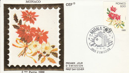 MONACO FDC 1989 NOEL - FDC
