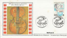 MONACO FDC 1991 FONDATION PRINCE PIERRE - FDC