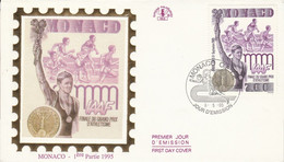 MONACO FDC 1995 FINALE GRAND PRIX D'ATHLETISME - FDC