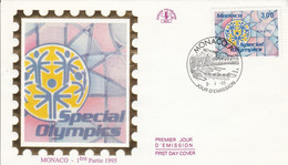 MONACO FDC 1995 SPECIAL OLYMPICS NEW HAVEN - FDC