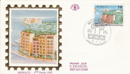 MONACO FDC 1995 ANNEE CONSERVATION DE LA NATURE - FDC
