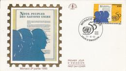 MONACO FDC 1995 50 ANS O N U - FDC