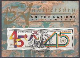 UNO NEW YORK  Block 11, Gestempelt, 45 Jahre UNO, 1990 - Blocks & Kleinbögen