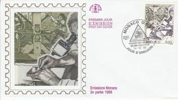 MONACO FDC 1996 GRAVURE EN TAILLE DOUCE - FDC