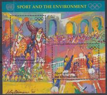 UNO NEW YORK  Block 13, Postfrisch **, 100 Jahre Olympische Spiele, 1996 - Blocks & Kleinbögen