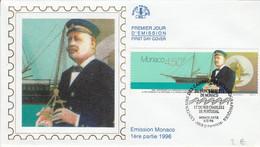 MONACO FDC 1996 CENTENAIRE DES CAMPAGNES OCEANOGRAPHIQUES - FDC