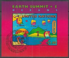 UNO NEW YORK  Block 14, Gestempelt, Umweltkonferenz, 1997 - Blocks & Kleinbögen