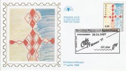 MONACO FDC 1997 CONCOURS DESSINS D'ENFANTS - FDC
