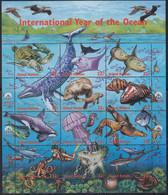 UNO NEW YORK  771-782, Zdr.-Bogen, Postfrisch **, Jahr Des Ozeans, 1998 - Blocks & Kleinbögen