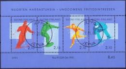 Finland 1991 Blok Wintersport GB-USED - Gebraucht