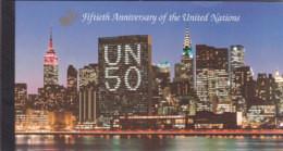 UNO NEW YORK MH 1, Postfrisch **, 50 Jahre UNO, 1995 - Markenheftchen