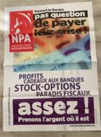 NPA : 2 Affiches / 1 Brochure 16 P. / 10 Autocollants / 1 Document 4 Pages / 1 Dépliant & 4 Tracts (affiches Expédiées P - Manifesti