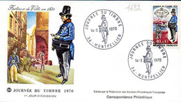 France 1632 Fdc Facteur De Ville 1830, Costume - Posta