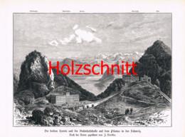 013-3 Nieriker: Pilatus Hotel Pilatusbahn Großbild Druck 1891!! - Stampe