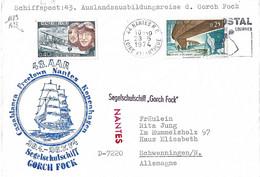 Poste Navale Allemande En FRANCE N°Y&T 1489-1523 Voilier GORCH FOCK Escale De NANTES - Briefe U. Dokumente