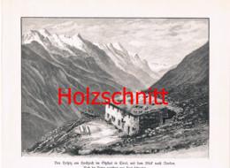 017 Schmetzer: Hochjoch-hospiz Ötztal Großbild Druck 1891!! - Stampe