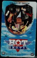 JAPAN  1992 PHONECARD CINEMA CHARLIE SHEEN HOT SHOTS USED VF!! - Cinema