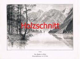 018 Nisle: Plansee Seespitz Tirol Reutte Großbild Druck 1891!! - Stampe