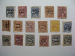 Fiscaux Lot Pérou Stamp Duty Steuermarke  Sellos Ficales  Selos Fiscais       à Voir - Perù