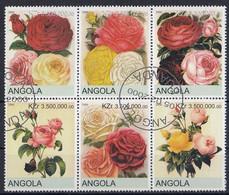 ANGOLA Roses 1,used - Rose
