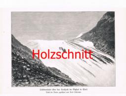 021-2 Schmetzer: Schlittenfahrt Ötztal Großbild Druck 1891!! - Stampe