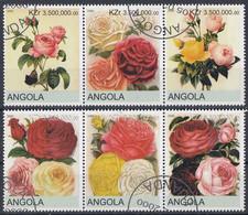 ANGOLA Roses 2,used - Rose