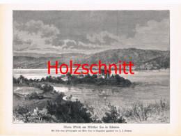 024 Kirchner: Maria Wörth Kärnten Wörthersee Großbild Druck 1891!! - Stampe