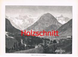 025 Brand Schesaplana Bergdorf Berge Bludenz Großbild Druck 1891 !! - Stampe