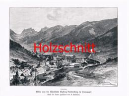 026-2 Eisenbahn Erzbergbahn Vordernberg Großbild Druck 1899!! - Stampe