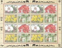 UNO GENF, 288-291, Kleinbogen (4x4), Postfrisch **, Gefährdete Arten 1996 - Blocks & Kleinbögen