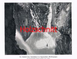 032-2 Kesselfall Kaprunertal Wasserfall Großbild Druck 1899!! - Stampe