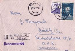 ROUMANIE 1958 LETTRE RECOMMANDEE DE SIBIU - Cartas