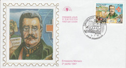 MONACO FDC 1997 DYNASTIE DES GRIMALDI - LOUIS II - FDC