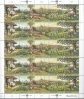 UNO GENF, 292-296, Bogen (5x5), Postfrisch**, 2. Konferenz Der Vereinten Nationen über Wohn- Und Siedlungsfragen 1996 - Blocks & Kleinbögen