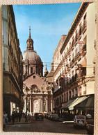 Espagne Zaragoza 1977 Rue Alphonse 1er Eglise Cafe Hotel San Enoracia Pietons Autos Vespa - Zaragoza