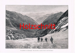 035-2 Glocknerbahn Bergsteiger Glockner Großbild Druck 1899 - Stampe