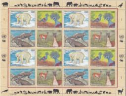 UNO GENF 305-308, Kleinbogen, Postfrisch **, Gefährdete Arten 1997 - Blocks & Kleinbögen