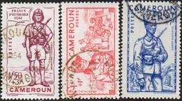 Cameroun Obl. N° 197 à 199 - Défense De L'Empire - Oblitérés